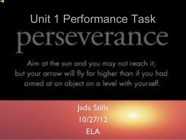 Unit 1 performance task Jada Stills
