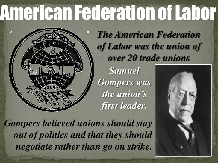 american federation of labor and industrial One of the oldest, strongest, and largest labor organizations in the us, the american federation of labor (afl) had 4 million members in over 20,000 union locals.