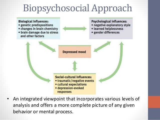 depression a biopsychosocial perspective Depression after traumatic brain injury: a biopsychosocial young south asian male with depression post a biopsychosocial perspective may often be.
