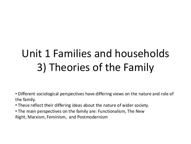 GCE Sociology Revision (AQA)- Unit 1 Theories of the family (3)