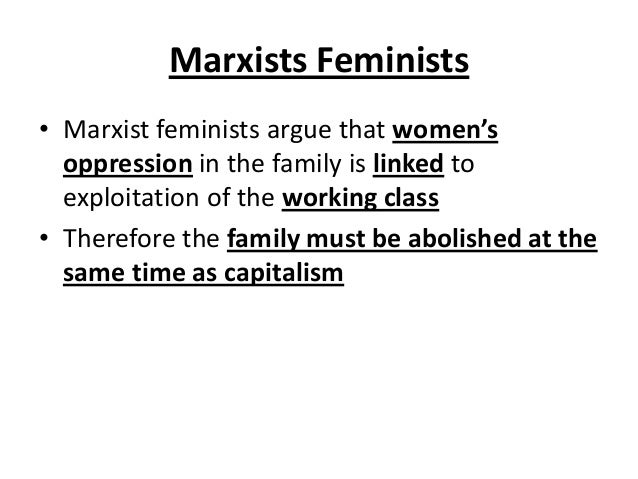 marxist view of family essay