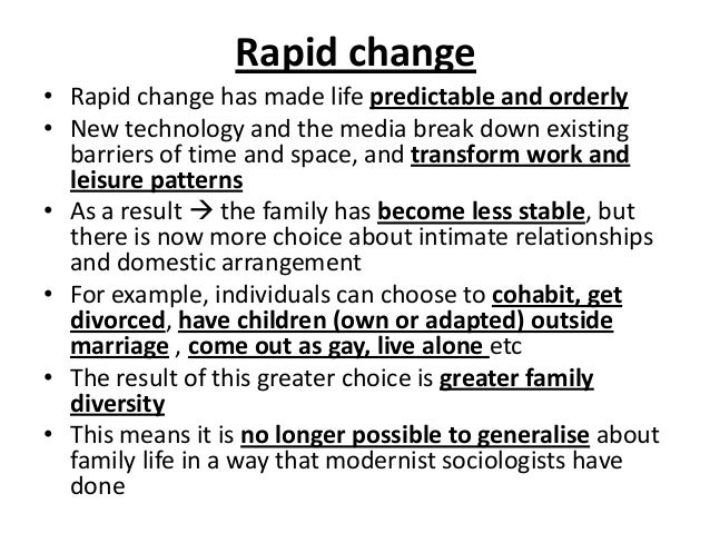 What impact has social policy had on families? Help with sociology!?