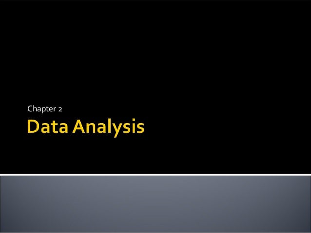 Unit 1 - Data Analysis