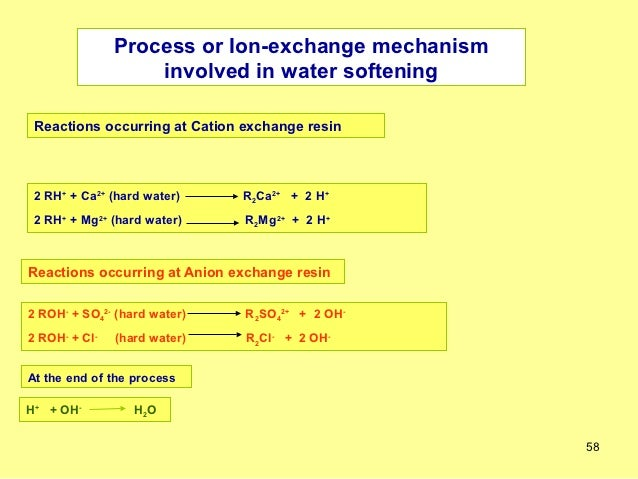 Ion Exchange Process Ppt Process or Ion-exchange