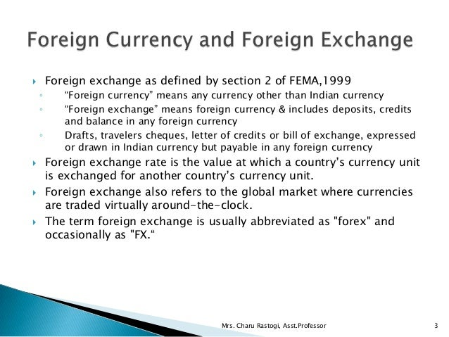 Foreign exchange definition
