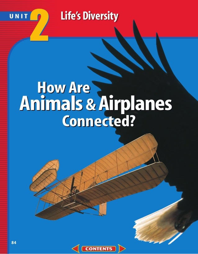 2   Life's DiversityUNIT       How Are     Animals & Airplanes          Connected?84