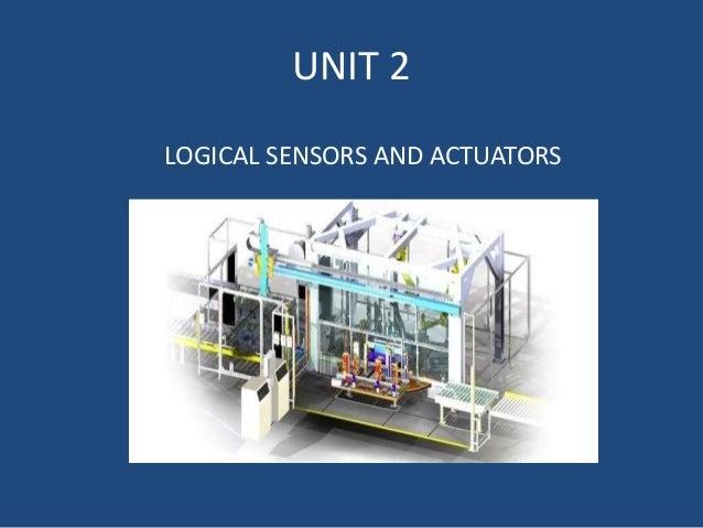 UNIT 2 LOGICAL SENSORS AND ACTUATORS