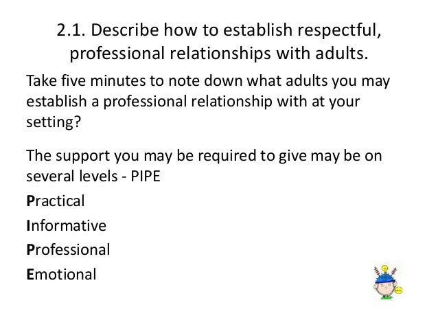 how to establish respectful professional relationships with children essay