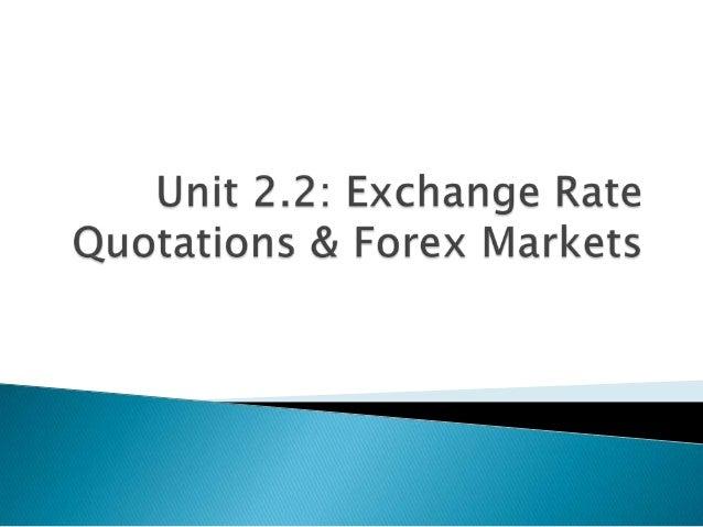 Forex street exchange rates