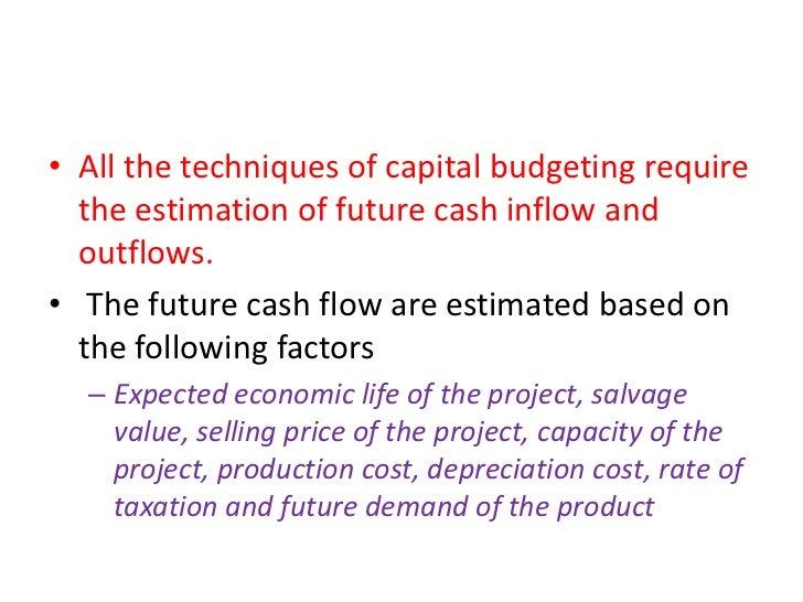methods of capital budegeting
