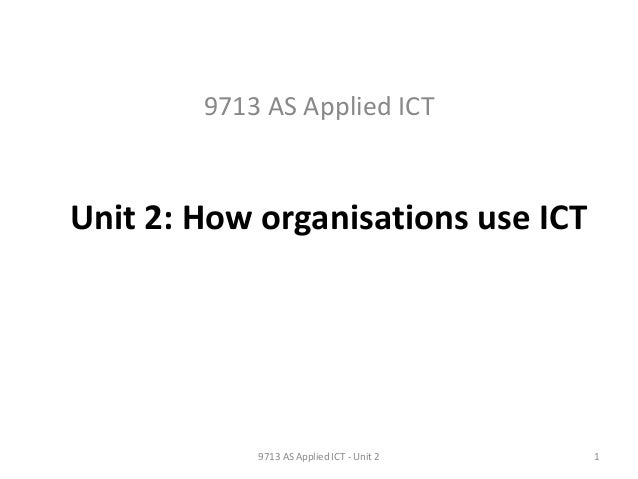 Applied ICT Single...? - A(S)Level?
