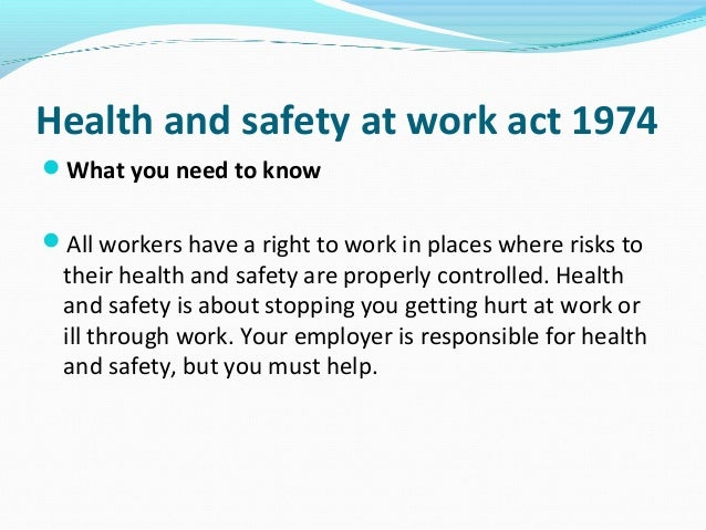 outline the main health and safety responsibilities of the employer or manager The organization of staff for managing healthy and safety in terms of appropriate   outline the main components of a health & safety management system   outline the key health and safety responsibilities of employers which are  common in.