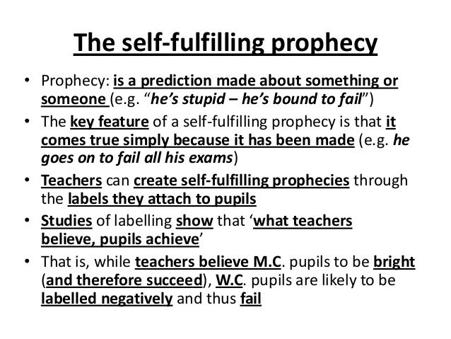 self fulfilling prophecy essay