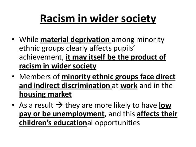 racism on sociology Day by day, the occurrence of social problems seems to increase rapidly social problems are issues or problems that may affect the people in a.