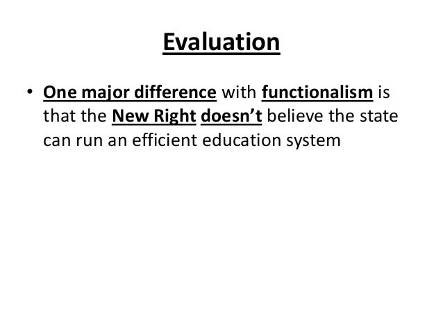 The New Right and Education