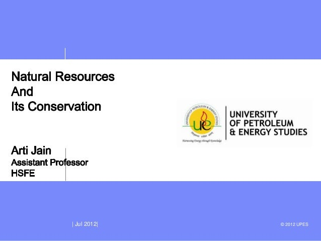 Unit 2 natural resources lecture 2