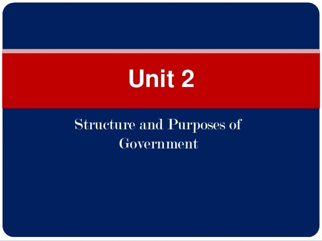 Structure and Purposes of Government Unit 2
