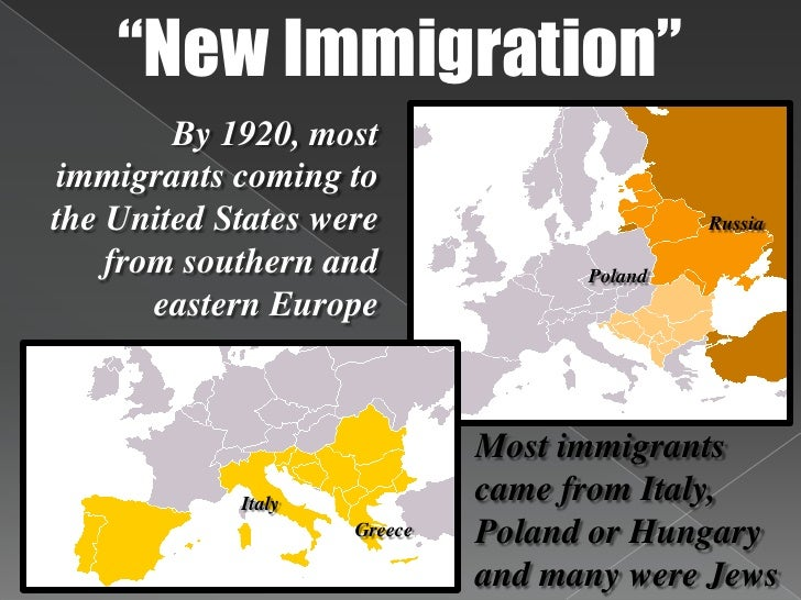 The Industrial Revolution Immigration