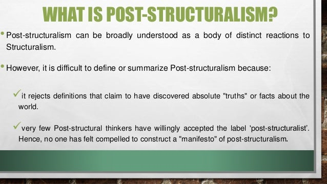 structuralism and literary criticism Structuralism, from which structural analysis derives, is the methodological principle that human culture is made up of systems in which a change in any element produces changes in the.