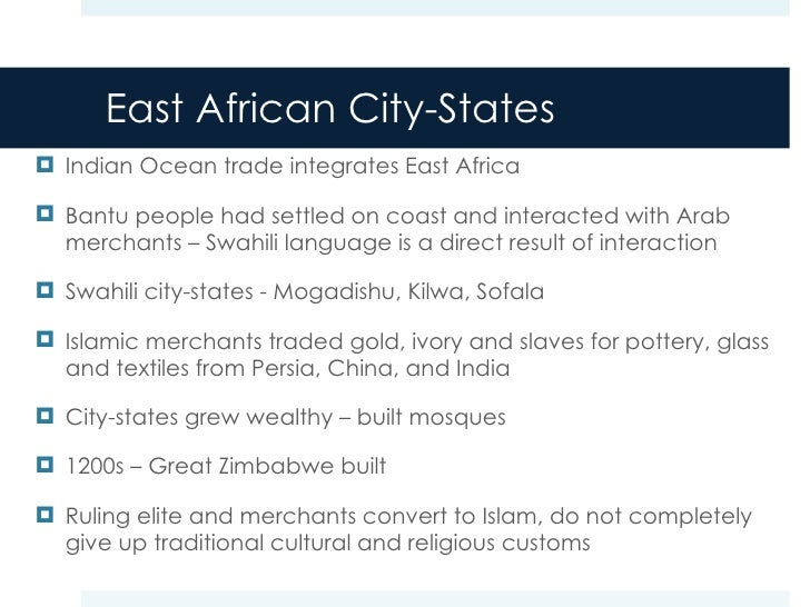 Compare and Contrast the impact of islam in west and east africa?