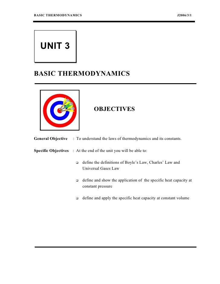 BASIC THERMODYNAMICS                                                               J2006/3/1   UNIT 3BASIC THERMODYNAMICS ...