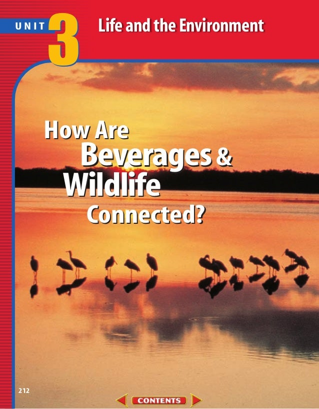 UNIT       3   Life and the Environment      How Are        Beverages &       Wildlife           Connected?212