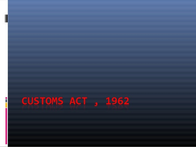 customs duty 1966