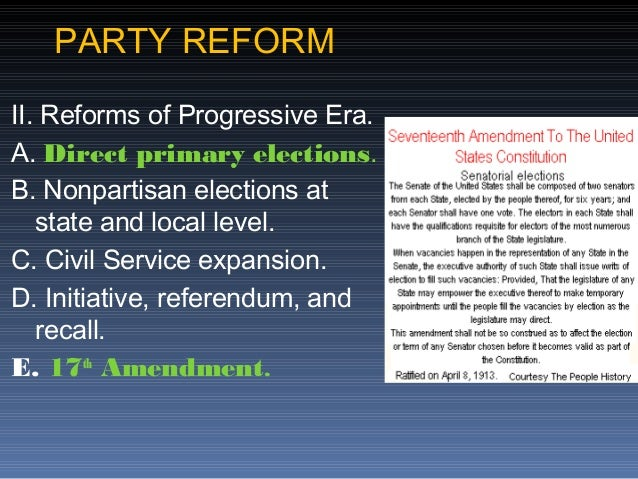 Recall Election Progressive Era AP Gov Unit 3 Review