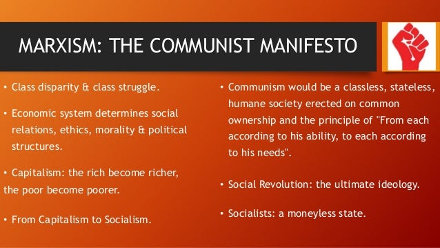 The significance of the Communist Manifesto