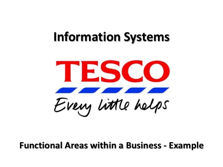 BTEC National in ICT: Unit 3 - Functional Areas in more detail - Tesco