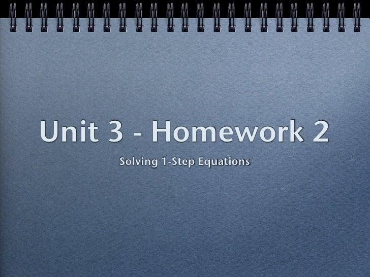 Unit 3   hw 2 - solving 1 step equations