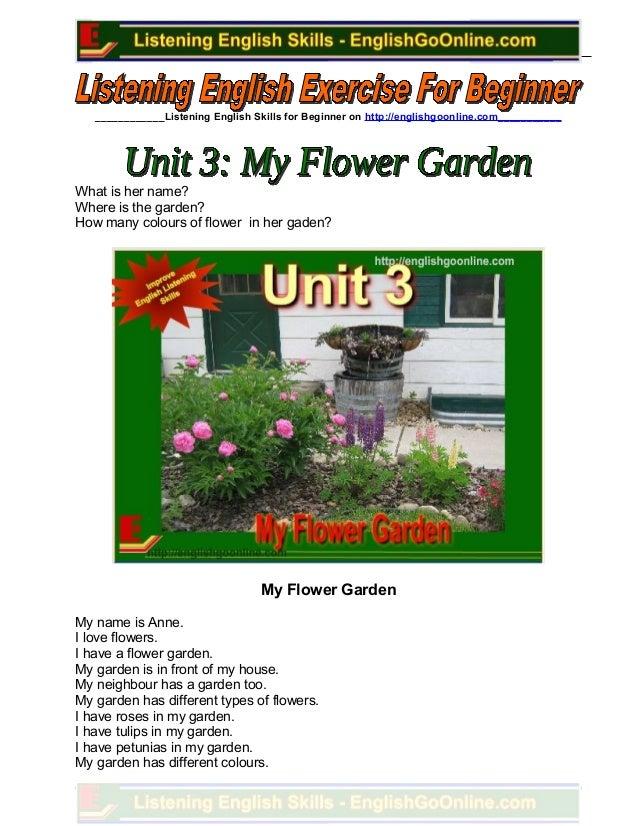 Unit 3. my flower garden