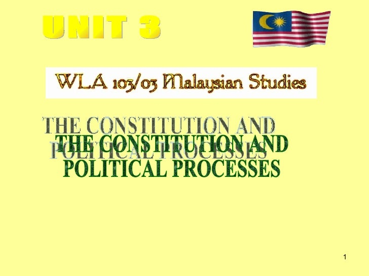 UNIT 3 THE CONSTITUTION AND POLITICAL PROCESSES