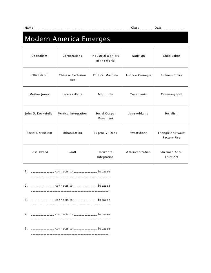 Name_______________________________________________________________Class__________Date_______________<br />Modern America ...