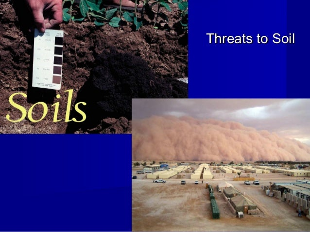 Threats to Soil