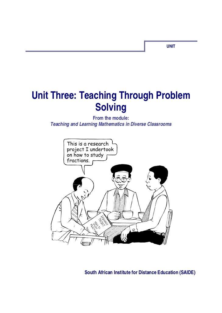 Ace Maths Unit Three: Teaching Through Problem Solving (pdf)