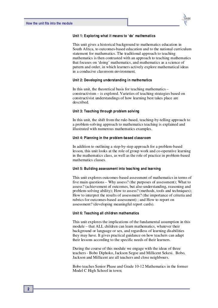 Problem solving in mathematics pdf