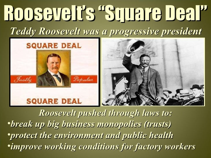 a look at president theodore roosevelt and the progressive movement Progressive era politics through the mckinley's 42-year-old vice president, theodore roosevelt and former president from the progressive wing of the.