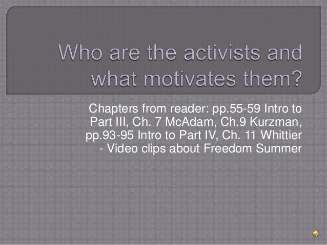 Unit 3 who are activists & what motivates pptx