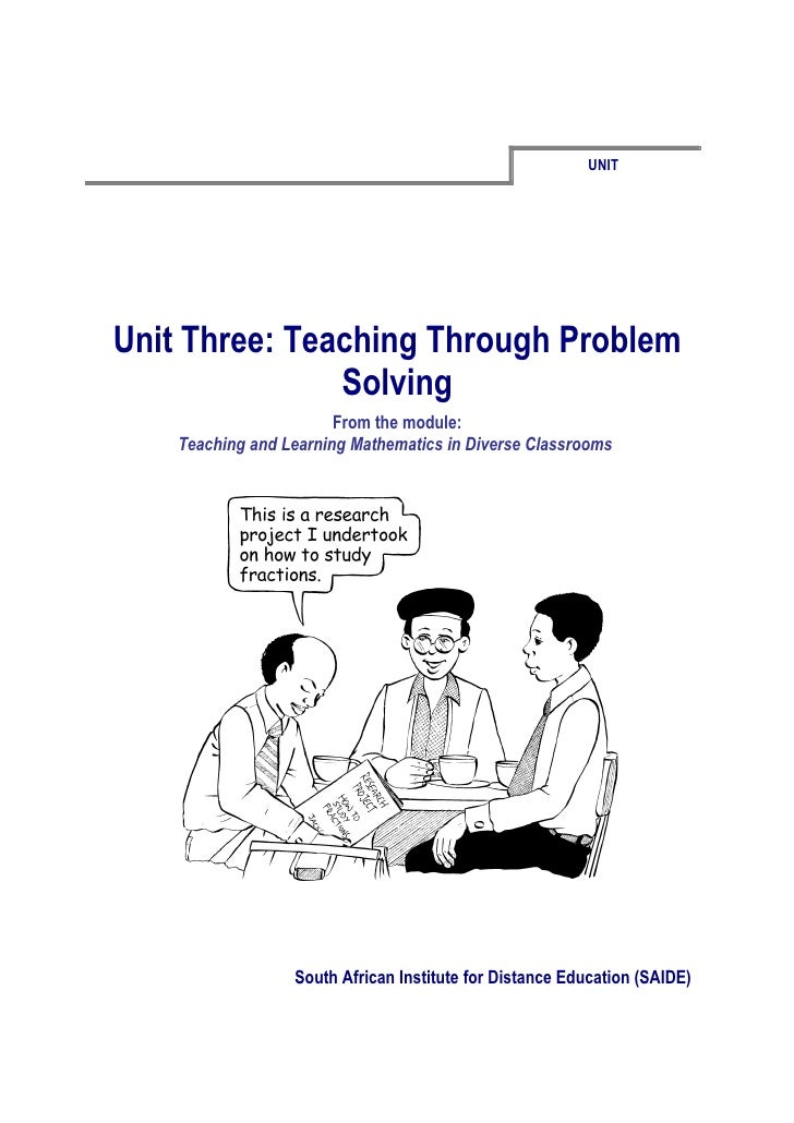 Ace Maths Unit Three: Teaching Through Problem Solving (word)