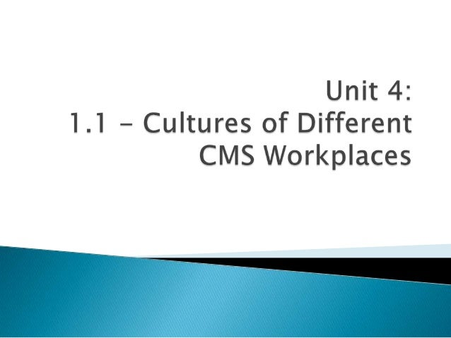Unit 4: Cultures in the Workplace