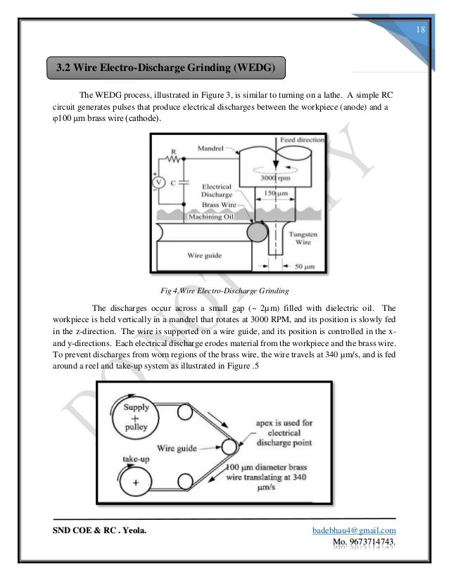 thesis electrical discharge machining