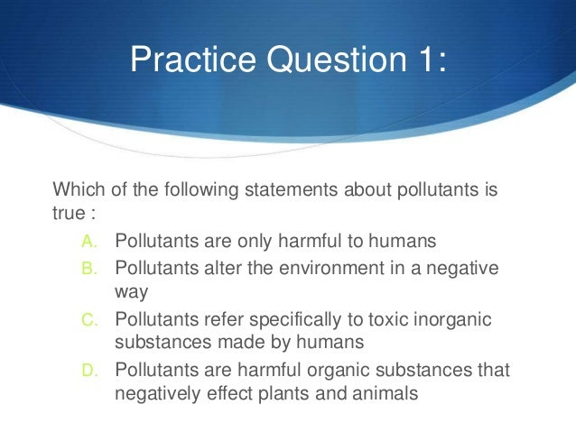 Environmental Science Question?