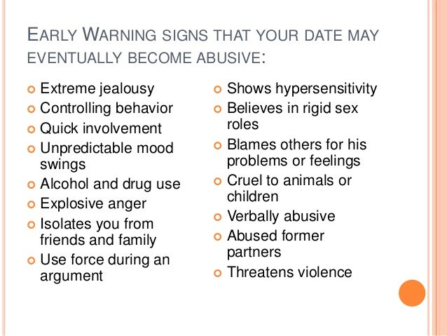 Warning signs of a controlling relationship