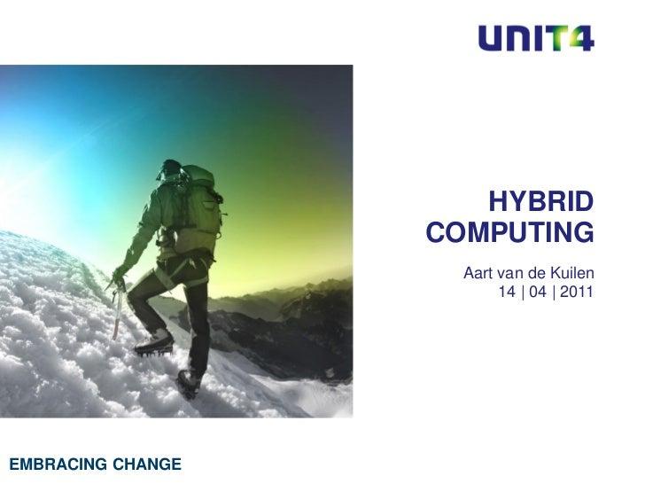 HYBRID                   COMPUTING                     Aart van de Kuilen                          14 | 04 | 2011EMBRACING...
