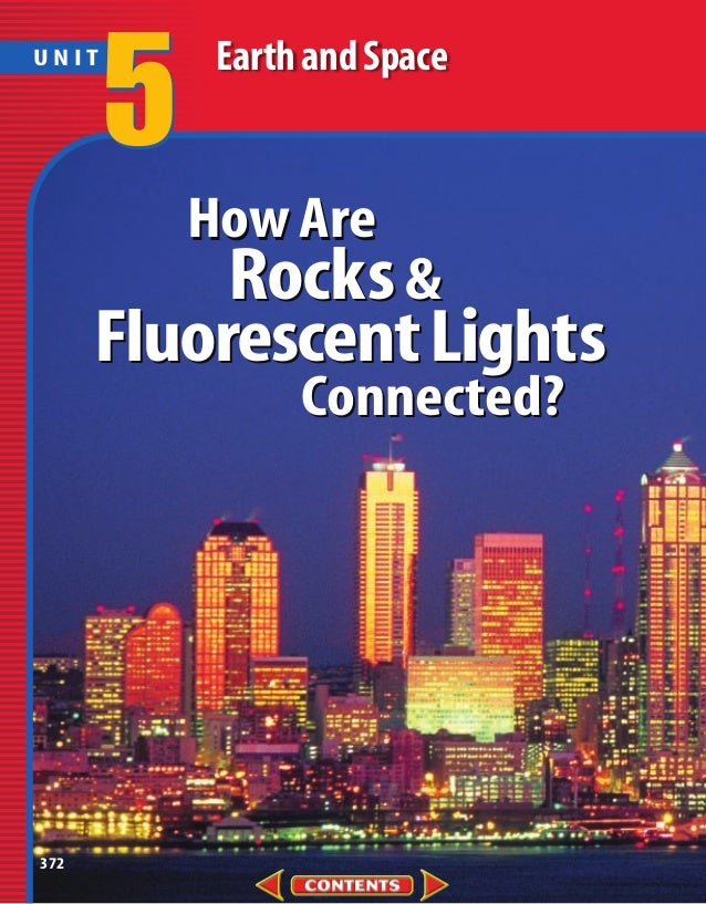 5    Earth and SpaceUNIT           How Are           Rocks &      Fluorescent Lights                 Connected?372