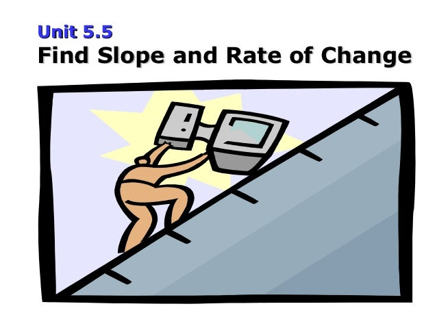 Unit 5.5Find Slope and Rate of Change