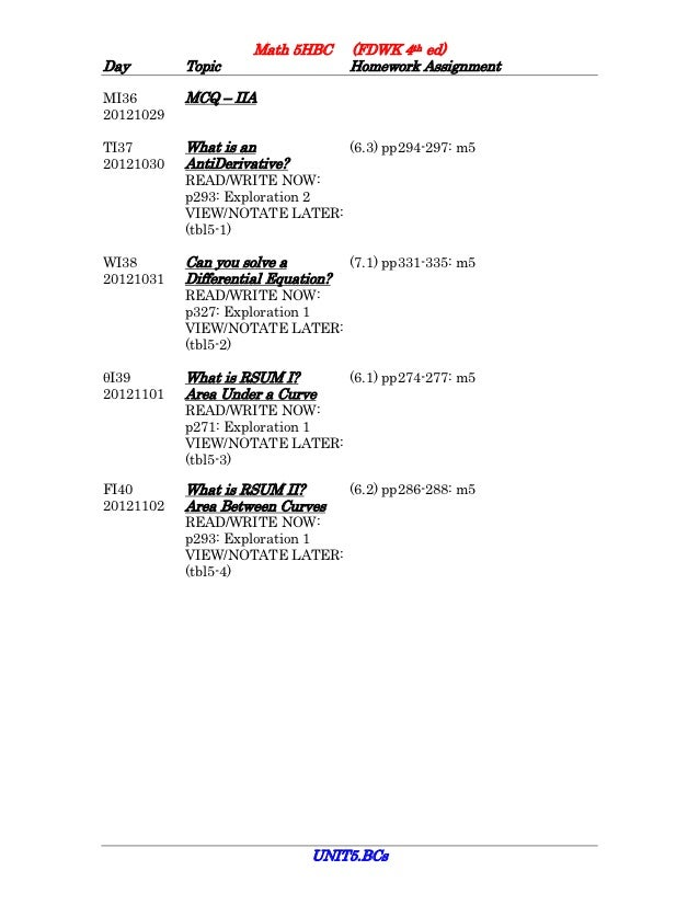 5HBC2012 Unit5 Assignment Sheet
