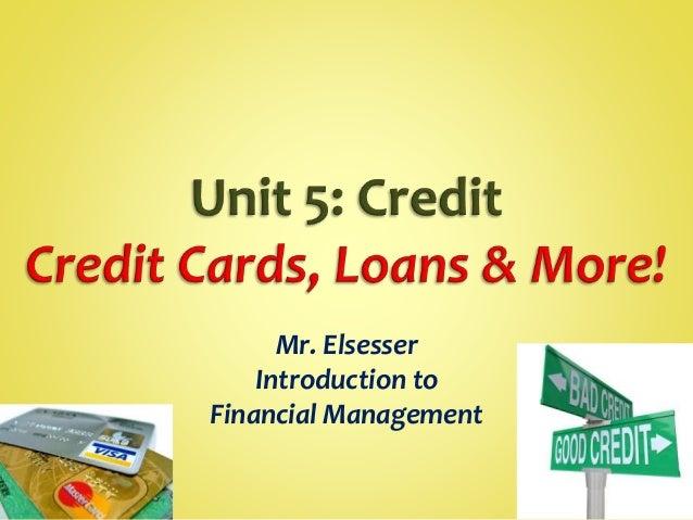Unit 5: Credit (Notes)