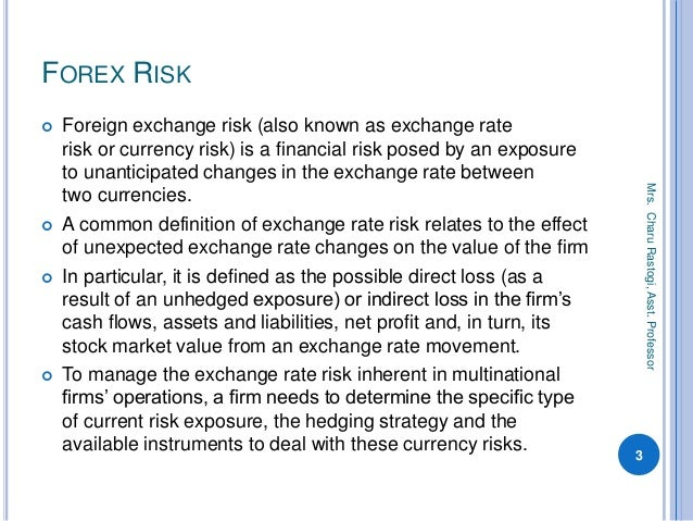 foreign exchange risk management and performance This foreign exchange risk management policy establishes guidelines for   statement of financial performance, not-for-profits are not permitted special.